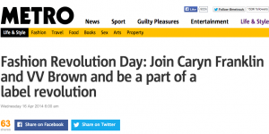 Join Caryn Franklin in Fashion Revolution Day