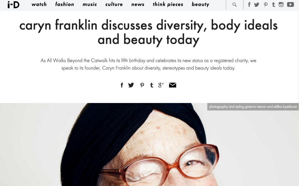 Diversity, Body and Beauty Issues: i-D