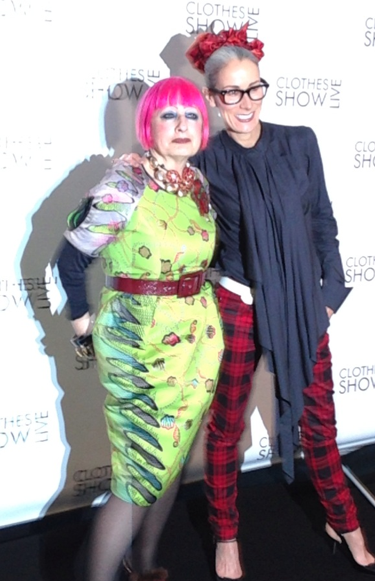 Caryn Franklin and Zandra Rhodes