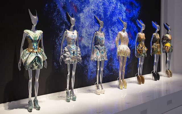 Installation view of 'Platos Atlantis' gallery, Alexander McQueen Savage Beauty at the V&A (c) Victoria and Albert Museum London