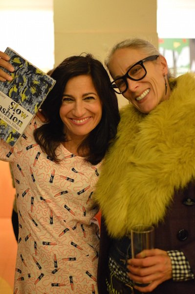 Safia and Caryn at the launch of Safia's latest collection collaboration with Zandra Rhodes