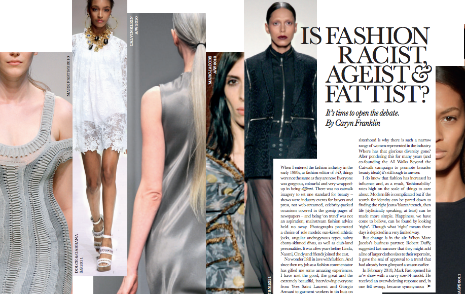 Elle Feature by Caryn Franklin Is Fashion Racist