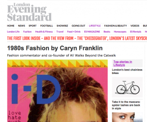 Caryn Franklin writes about the 80s