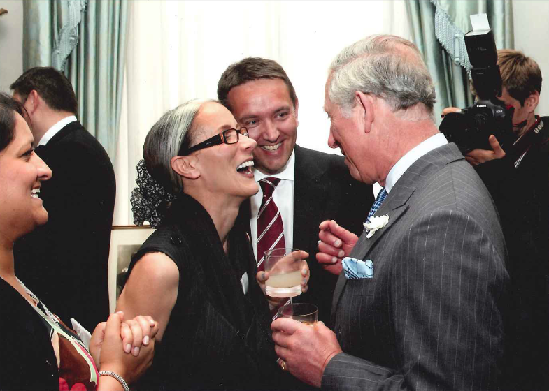 Caryn Franklin with Prince Charles