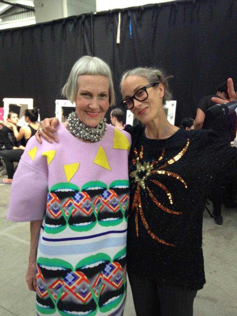 Caryn Franklin and Jean Brooks at  Graduate Fashion Week