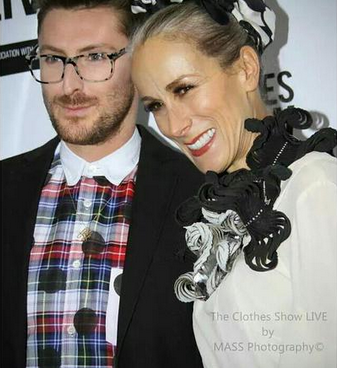 Caryn Franklin and Henry Holland